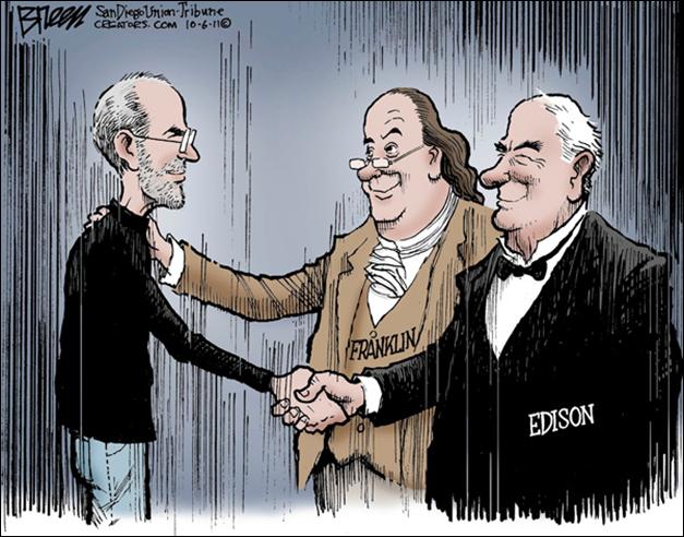 Cartoon Steve Jobs