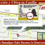 Ubicación de casillas para votar en Reynosa
