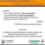 COMAPA Reynosa aviso de suspension general