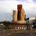 Monumento de PEMEX en Reynosa en honor a la cuenca de Burgos