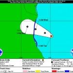 Temporada de Huracanes, la tormenta tropical Dolly en el Golfo de México