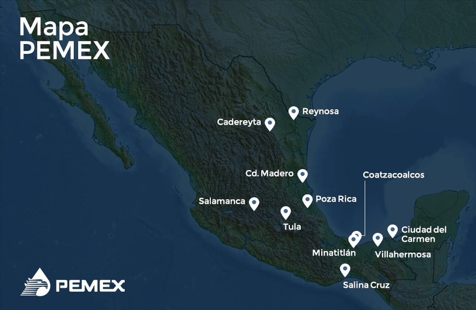 Mapa de PEMEX
