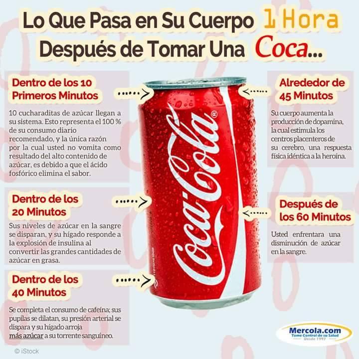 Tienes la pésima costumbre de tomar una Coca, conoce lo